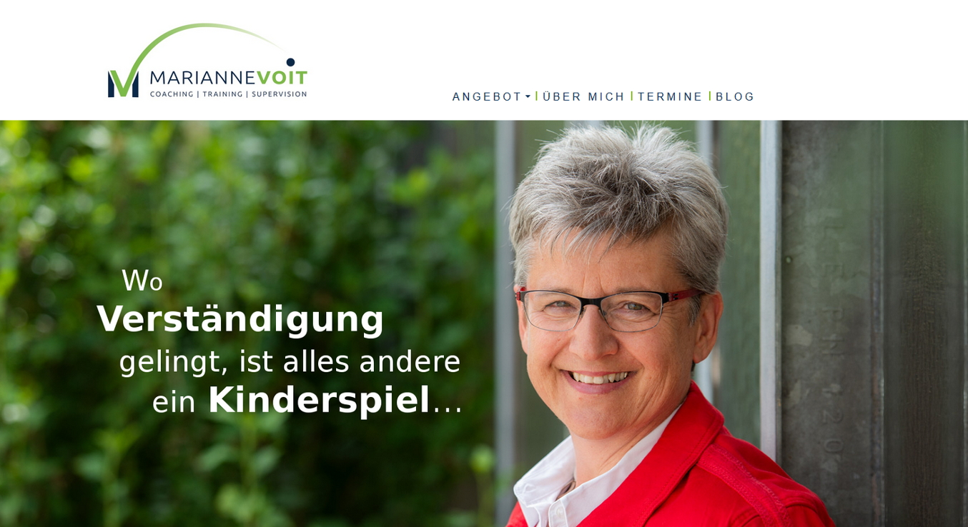 Webseite für Marianne Voit - Coaching - Training - Supervision